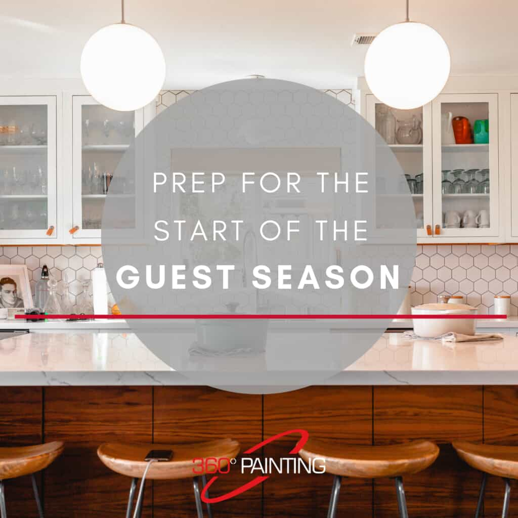 Kitchen image with Prep for the start of the guest season