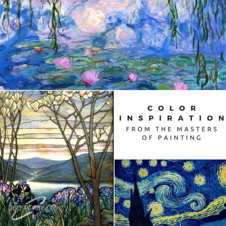 Color inspiration from the master of painting