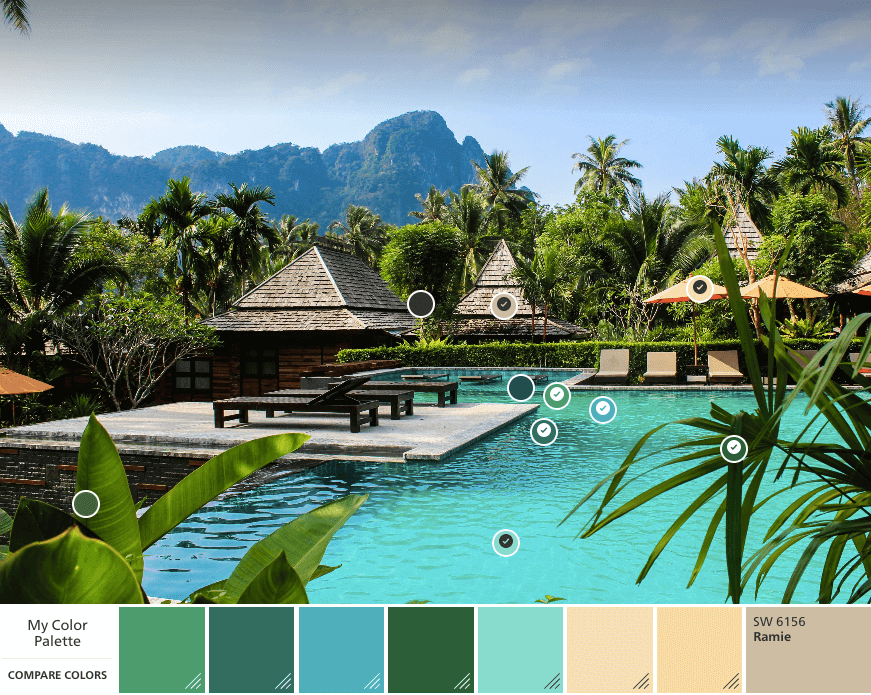 Thailand color palette