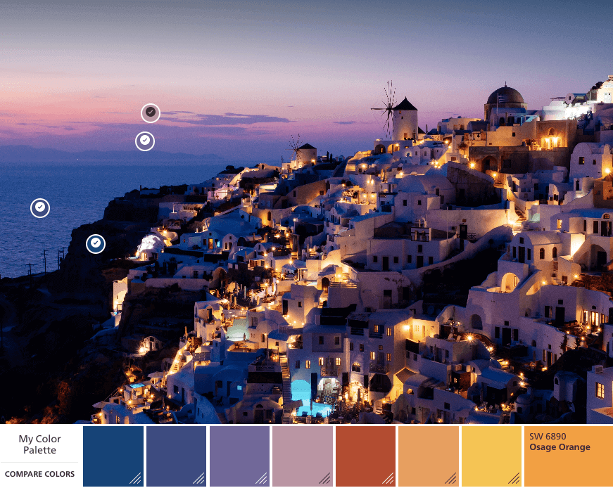 Greece color palette