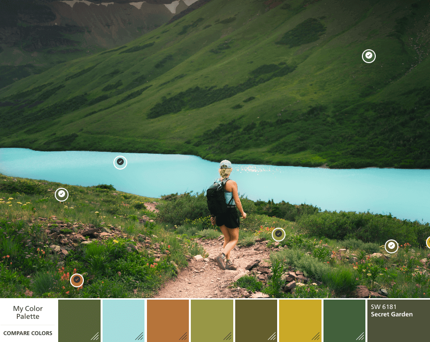 Mountain color palette