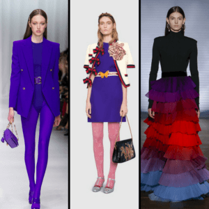 Models wearing Ultra-violet clothes