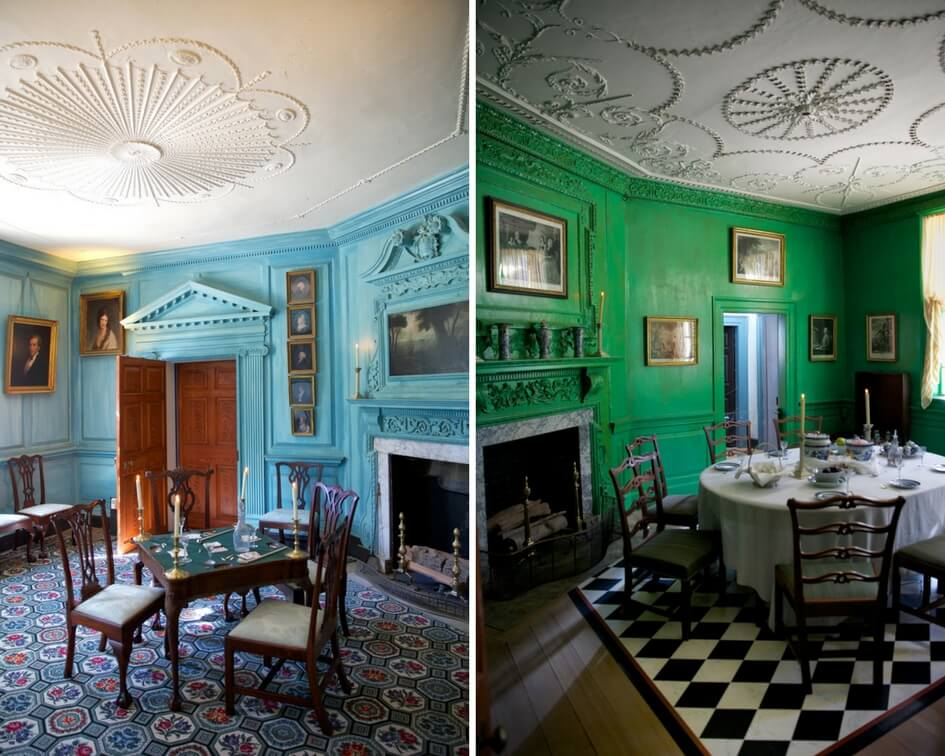 Blue and Green Rooms at Mount Vernon