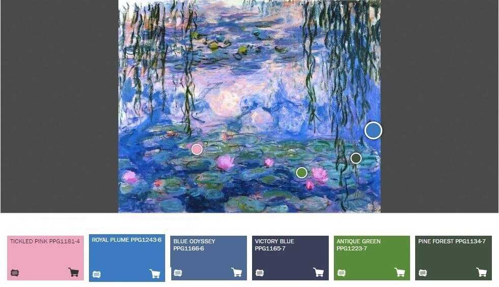 The Impressionists color palette