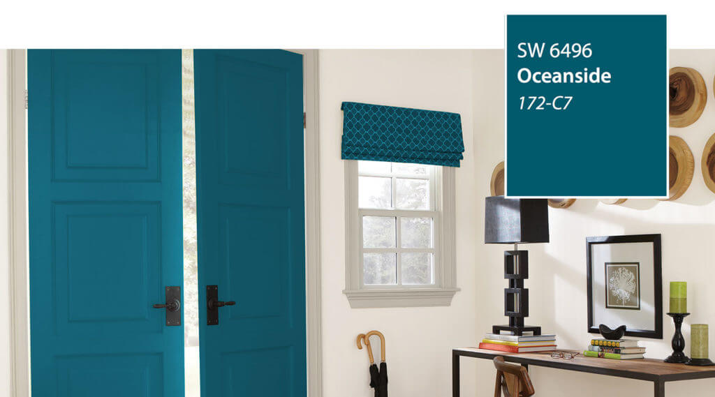 Doors Painted with Sherwin-Williams Oceanside