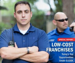 Low cost franchisees info graphic