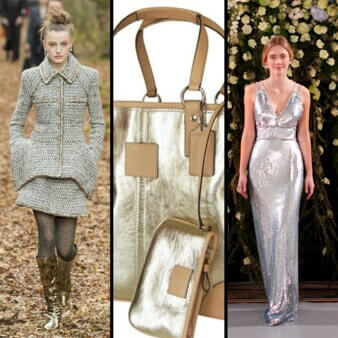 runway fashion with metallic features