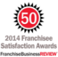 Franchise Business Review 2014 Franchisee Satisfaction Award badge