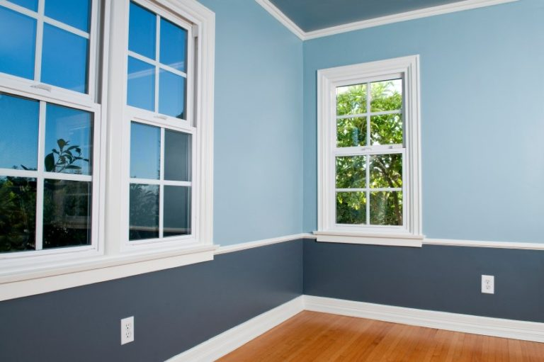 blue interior room